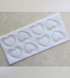 תבנית סיליקון ליצירת קישוטים משוקולד לב