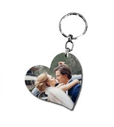 הדפסה על מחזיק מפתחות לב נטוי