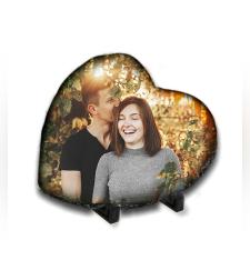 הדפסת תמונה על אבן בזלת בצורת לב