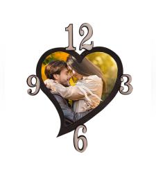 הדפסה על שעון בצורת לב