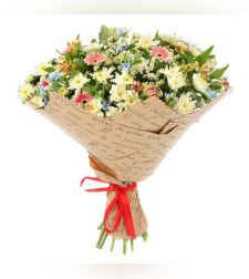 זר פרחים שדה אלפיני #334