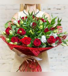 זר פרחים רומנטיקה קלאסית #116