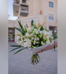 זר פרחים רכות וחום #215