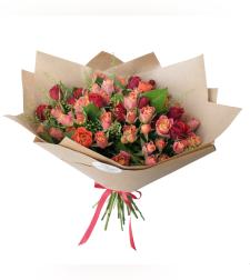 זר פרחים רכות וחן #18