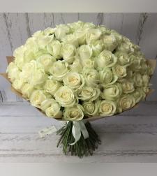 זר 101 ורדים לבנים #17