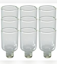 תשיעיית כוסית זכוכית לשמן 5 ס'מ