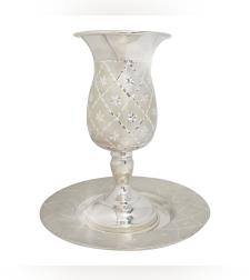 כוס קידוש כסף טהור דגם יהלום