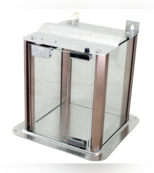 בית חנוכייה מהודר מאלומיניום וזכוכית - פרופילים בגוון נחושת 60X50X25 ס'מ
