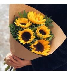 זר פרחים קרן שמש #103