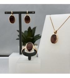 סט תליון, טבעת ועגילים 19K7IQ6