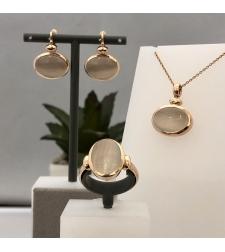 סט תליון, טבעת ועגילים 19KI67C