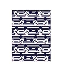 שמיכה - מיקי מאוס כחול לבן