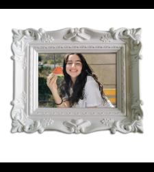מסגרת תמונה לבנה/שחורה-קיר משפחה