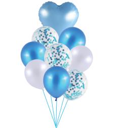 זר בלונים כחול מטאלי