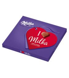 מילקה - 20 פרלינים - שוקולד חלב ממולא קרם נוגט