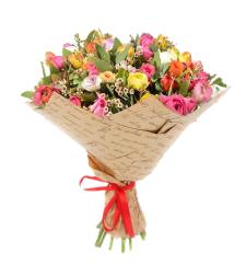 זר פרחים עם נוריות #211