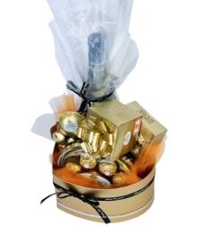 מארז אהבה בקופסה לב זהב בינוני