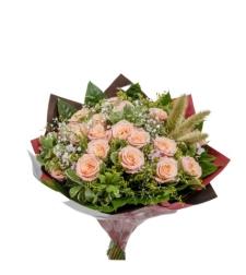 זר ורדים אפרסק