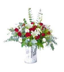 סידור פרחים רומנטי