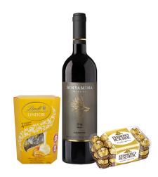 מארז שוקולד ויין