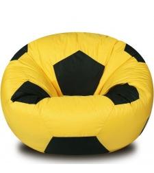 פוף כדורגל - שחור צהוב