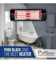 תנור אינפרא 2000 PURO BLACK