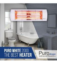 תנור אינפרא 2000 PURO WHITE