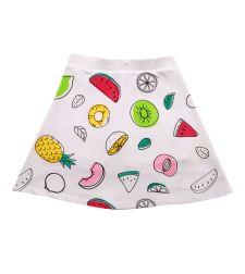 חצאית מודפסת פירות בלבן עם מכנסון בייבי 3-24M 2137903B