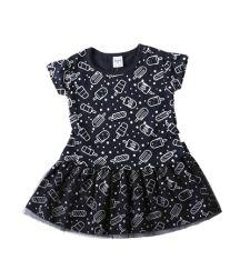 שמלה עם חצאית טול סינגל ג'רזי ארטיקים בייבי בנות 3-24M 2137489-3