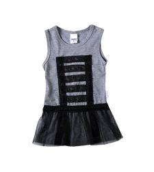 שמלה גופיה עם טול ותחרה סינגל ג'רסי בייבי בנות 3-24M 2137489-6