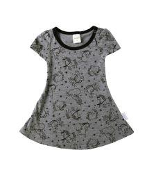שמלה בגזרת טי שירט סינגל ג'רזי חד קרן בייבי בנות 3-24M 2137489-11