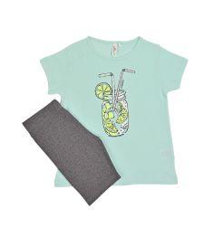 חליפות ס.ג'רסי + לייקרה מודפסות 2-10 בנות 30020133313