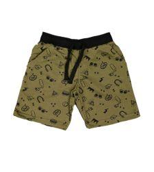 מכנסי פרנץ' טרי מודפס SMS בנים 2-8 2137479A