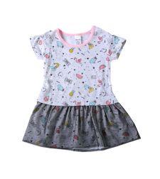 שמלה עם חצאית טול סינגל ג'רסי SUMMER בייבי בנות  3-24M 2137489-2
