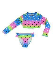 בגד ים צבעוני 2 חלקים בנות חולצה ש.א. 4-12 0176409C