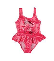 בגד ים ורוד מטאלי בנות מעוצב שלם 2-12 0176401D