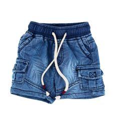 מכנס גינס לייקרה מדוגם קצר 6-24M 30019122086