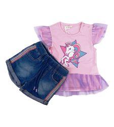 חליפות ס.גרסי+ג'ינס פ.טרי מדוגמות חודשים בנות 30020113136