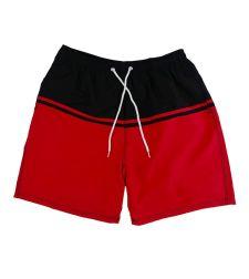 מכנס ים גבר שחור אדום 25222215