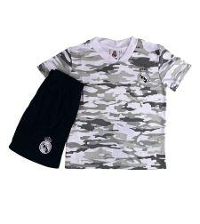 חליפת כדור רגל בנים ריאל מדריד לבן RM11270