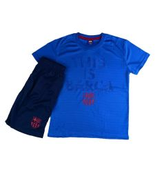 חליפת כדור רגל בנים ברצלונה כחול בהיר  FCB51429