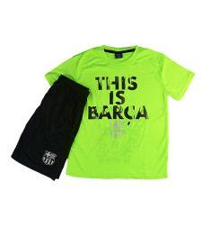 חליפת כדור רגל בנים ברצלונה צהוב זוהר  FCB51429