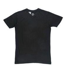 חולצת בייסיק גבר V קצר שחור 966612BLACKS