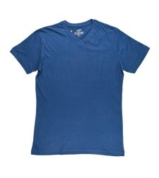 חולצת בייסיק גבר V קצר כחול גינס 966612JEANSS