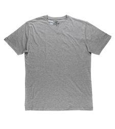 חולצת בייסיק גבר V קצר אפור בהיר966612MELANL