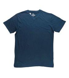 חולצת בייסיק גבר V קצר כחול נייבי 966612NAVYL