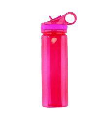 בקבוק שתייה פלסטיק שקוף 700 ml ורוד 0569507673
