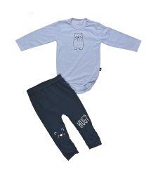 חליפה בנים אינטרלוק בגד גוף מעוצבת