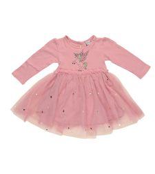 שמלה בנות לייקרה טול מעוצבת ורוד