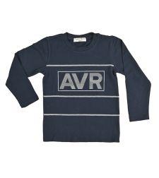 חולצה בנים לייקרה מעוצבת 2-8 שחור נייבי